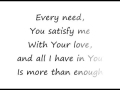 Godmelody and-Enough - Chris Tomlin [lyrics]